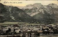 Hall Österreich Tirol AK ~1910 Panorama mit Alpen und Kirche Verlag Ledermann