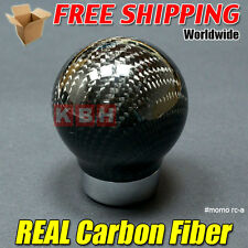 Genuine Carbon Fibre Manual Gear Stick Shift Shifter Knob Black Universal rca