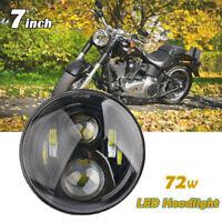 7 Inch Round 72W Headlights Projector Hi/Lo beam For Jeep 1997-2017 Wrangler JK