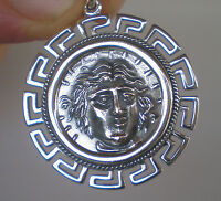 Helios Ancient Sun God X-Large Pendant with Meander Design - Rhodes Helius
