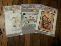 Daisy Kingdom Lot of 3 Full-Size Iron On Transfers - Bear Essentials - Chocolate