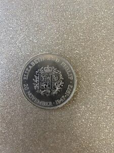 1972 Elizabeth And Philip One Crown coin