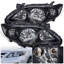 2011 2012 2013 Toyota Corolla Black Driving Headlight Clear Reflector Corner Len