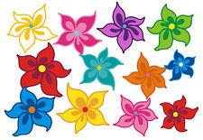 Blumen Aufkleber Hippie Blumen Auto Aufkleber: Mini 14 - 51 Stk. - bunt gemischt