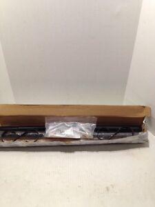 2-Gibraltar PBK00000 Round Steel Mailbox Posts with Decorative Scrolls, Black