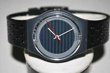 Vintage Swatch Watch GA-105 SILVER CIRCLE 1987 Unisex Swiss Quartz Classic Works
