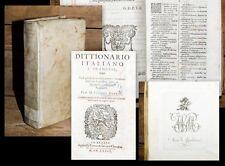 1634 Wörterbuch Bibliothek Fürstenberg Donaueschingen viel weisses Papier Venuti