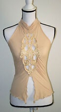 usa womens summer tops Halter Backless Sleeveless lace Front Womens FTOshop