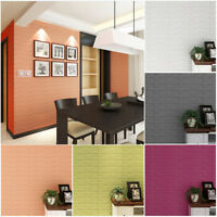 3D PE Foam Wallpaper DIY Wall Stickers Home Room Decor Embossed Brick Stone AU