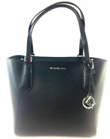 NWT Michael Kors Large Bonded Black Leather Tote 35T8SKFT9T Shoulder Bag $348