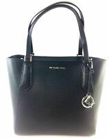NWT Michael Kors Large Bonded Black Leather Tote 35T8SKFT9T Shoulder Bag $348