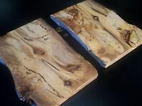 2 x BLACKHEART SASSAFRAS Craft Boards Cheese Platters Bread boards