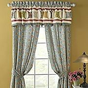 "JC PENNEY HOME COLLECTION ""MARIA"" FLORAL DRAPERIES PAIR"