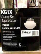 Casablanca Ceiling Fan Light Fixture Bright Brass Finish KG1X-2