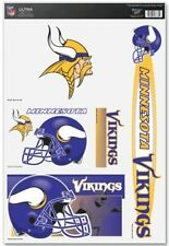 """MINNESOTA VIKINGS 11""""X17"""" (5) ULTRA DECALS BEAN BAG TOSS NFL FOOTBALL"""