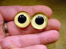 a pair vintage solid doll glass eyes size 22 mm doll or Taxidermy age 1910 3385