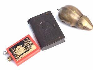 2 Antique Vesta Cases and 1960's Striker Lighter