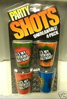 "4 pack IT'S MY F*CKING BIRTHDAY Unbreakable PLASTIC 2.25"" Shot Glasses NEW"