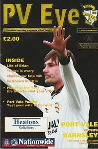 Port Vale v Barnsley  15-Apr-2000