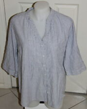 Womens size 18 blue & white pinstriped button down shirt made by MODA - Target