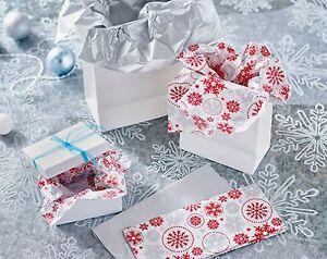 Pk 10 Luxury Silver Snowflake Tissue Paper Christmas Present Gift Wrap Wrapping