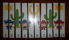 Wild West themed 1-10 Number Sequence Puzzle and Game Board.  Laminated learning
