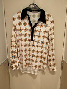 Christopher Kane blouse, shirt with flower print, UK 8
