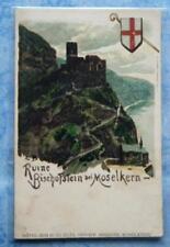 alte AK Ruine Bischofstein bei Moselkern Hotel zur Burg Eltz Geschw. Heidiger