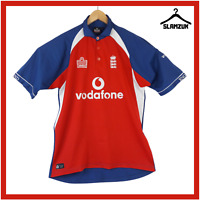 England Cricket Shirt Admiral L Large Training Kit Polo Jersey Ashes 2004 C29