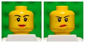 Lego HEAD dual sided # SINGLE girl princess woman female lips #1761