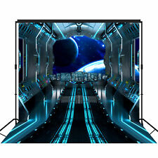 Futuristic Spaceship Corridor Backdrop X-Large Photography Background 10x10ft