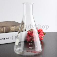 New 500ml Graduated Narrow Mouth Glass Erlenmeyer Flask Conical Flask Lab Tool