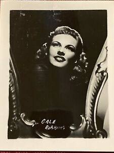 Gale Robbins 4x5 Publicity Photo Actress Three Littke Words The Brigand