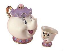 Disney Mrs.POT CHIP from Beauty & The Beast Ceramic Mug Cup Tea Pot Disneyland