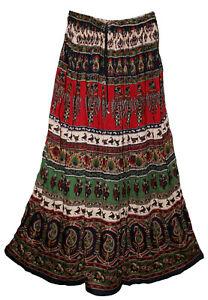 4X 5X 6X Plus Size Indian Gypsy For Skirt Falda Boho Rayon Women Ethnic Hippie
