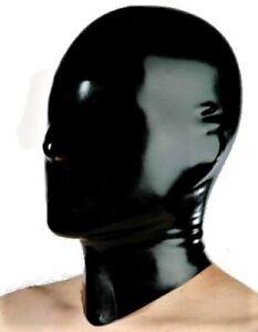 CAGOULE MASQUE EN LATEX  - Latex hood latex cagoule latex rubber masque L