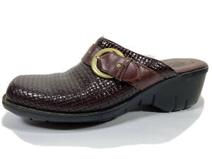 Clarks Artisan Leather Slip On Clogs Comfort Womens 8.5 M