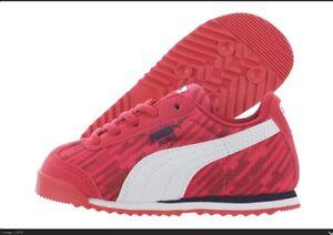 New NIB Puma Roma Digital Kids High Risk Red White BABY TODDLER Sneaker 359640