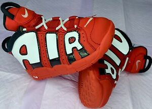 Toddler Boy Size 8c Nike Air More Uptempo Red/White/Black