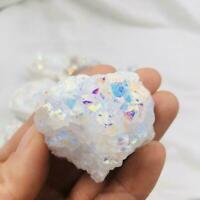 White Angel Aura Quartz Punkt Galvanisierte Kristall N9G8