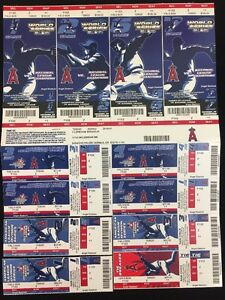 2004 Anaheim Angels AL Championship Ticket Stubs Phantom World Series Red Sox