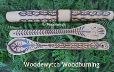 Henna Tattoo style spoons rolling pin kitchen witch set handcrafted food safe