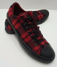 Unisex Red & Black Plaid Converse 150808C Womens 10 Mens 8 Flannel