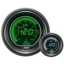 Prosport 52mm EVO Car Oil Temperature Gauge Green and White LCD Digital Display