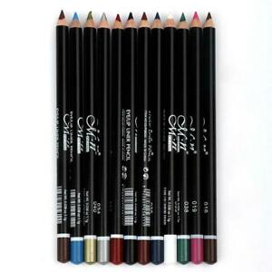 12PCS/Set Eyeliner Pencil Eye Shadow Eyebrow Eye Liner Pen Charm Gift For Women