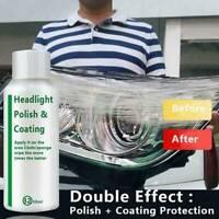 Car Headlight Polishing Fluid Restoration Kit Auto Scratch Coating CF5X7 G4J6 US