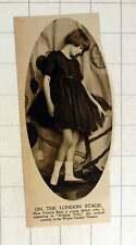 1920 Miss Yvonne BOSE Giovane Ballerina BACIANDO tempo Winter Garden THEATRE attraversando