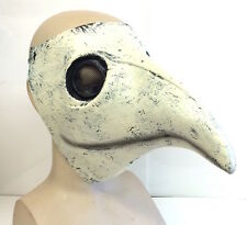 The Plague Doctor Mask Costume White Latex Halloween Gothic Steampunk Bird Beak