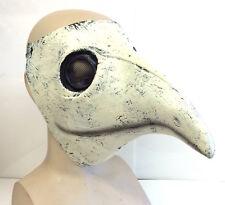 The Plague Doctor Mask Costume White Latex Halloween Gothic Steampunk Bird Beak