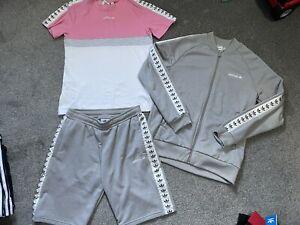 Boys Adidas Jacket, Shorts And Tshirt Set Age 11-12 Years Vgc